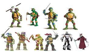 Les figurines Tortues Ninja